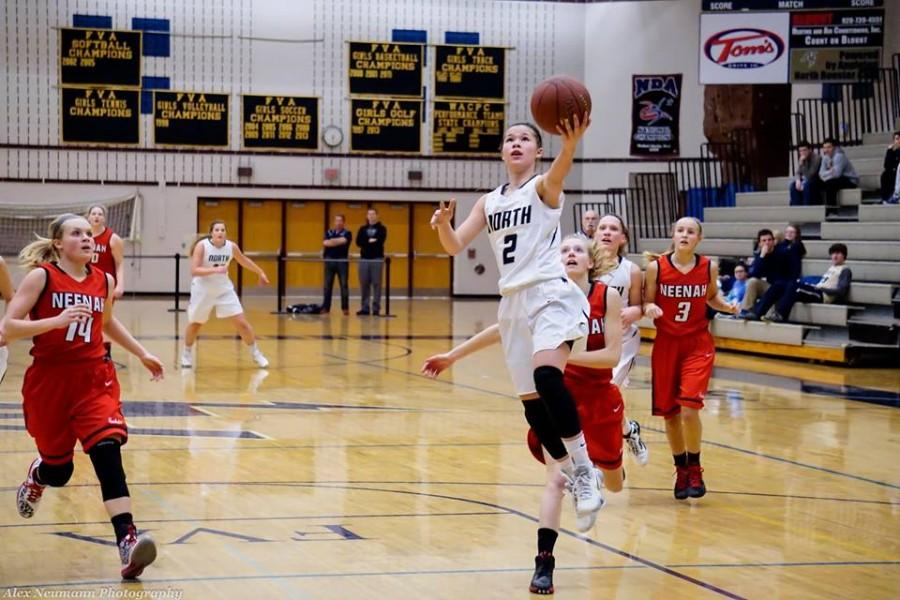 Sophomore Kari Brekke is the athlete of the year. Brekke led the Lightning in basketball this year and was named to the Wisconsin Basketball Coaches Association all state honorable mention.