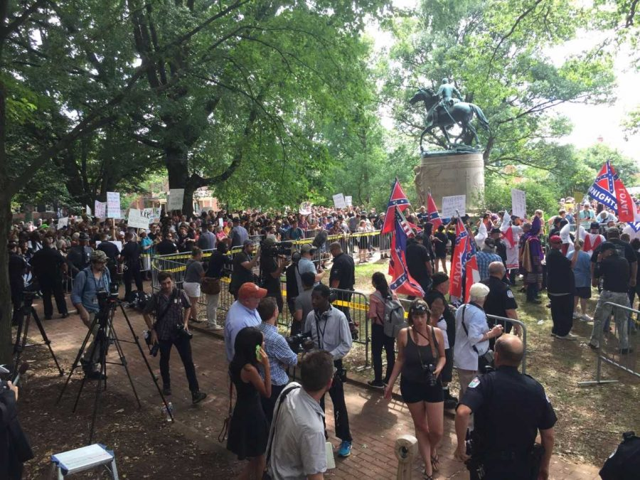North Student sees Charlottesville protests up close