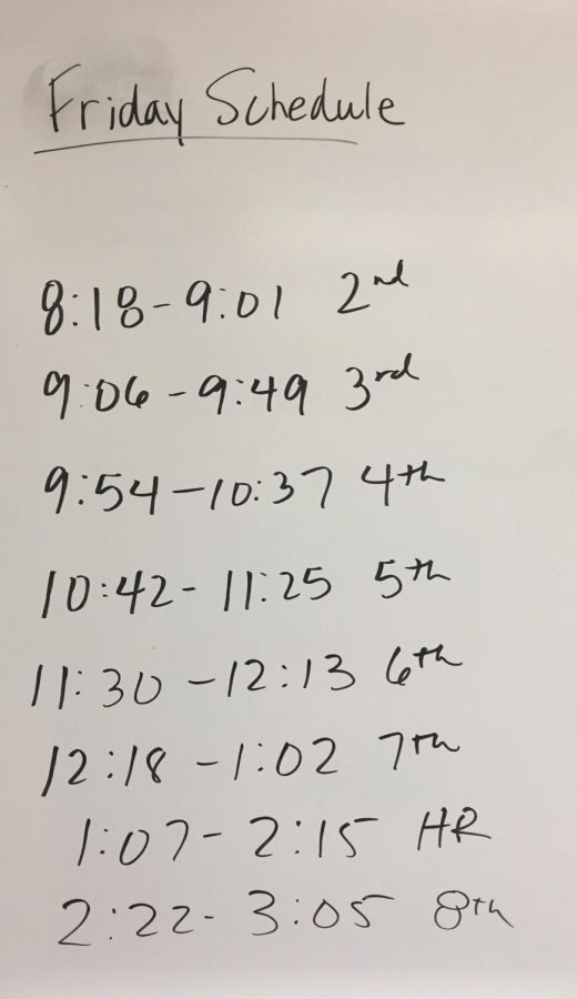 Veterans Day Schedule