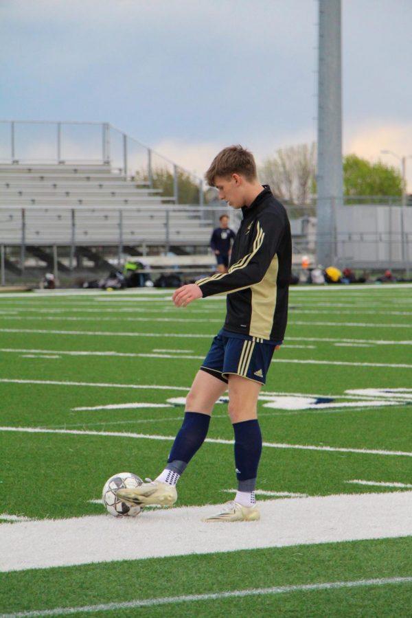 # Lukas Kirkava (Junior) warming up.