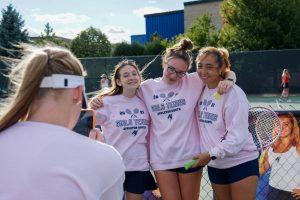 Senior Night With Girls JV Tennis